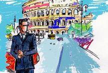 Big cities life / villes d'inspiration pour Magali Bonilla Roussel, tailleur créatrice