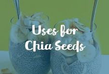 "Uses For Chia Seeds / Carrington Farms Organic Chia Seeds:100% Organic.  A sought after, nourishing ""superfood"", loaded with beneficial properties that support a healthy lifestyle."