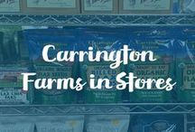 Carrington Farms in Stores! / 100% organic, non-genetically modified health food products.  Our comprehensive line of flax and coconut oil products serves a range of purposes.  Carrington Farms is recognized industry wide for quality, service and value. From our pure whole seed flax to our chia blends and cold-pressed organic extra virgin coconut oil, all of Carrington Farms' vitamin and mineral-full health food products are a great way to start adding a little more nutrition to everyday life.