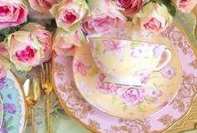 Tea parties, tea and tea sets / I love a nice cup of tea