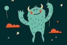 Monsters and things / Toys and children's book illustrations