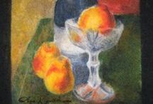 Felting. Wool painting