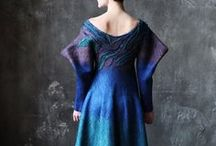 Felting. Dresses