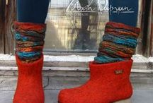 Felting. Boots & Shoes