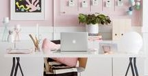 WORKPLACE IDEAS /  Workplaces inspirations - home office - details - decorations - organization of documents - interiors... and more!