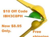 Bru Joy Lemon Lime Squeezer Citrus Press 2 in 1 / Buy from http://www.amazon.com/Bru-Joy-Enameled-Aluminum-Squeezer/dp/B00OVP611W    Use Code 10OFFCTP to save $10 instantly.
