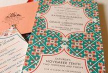 . Wedding invitation .
