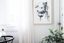 Display / Wall Art / Different ideas of displaying art on your walls. Styling in interior rooms: living room, hallway, dining room, bedroom, study.