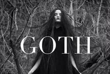 Goth / Black lipstick, tattoos and pentagrams!