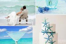 (テーマイメージ)海がテーマの結婚式 / 海をテーマにした結婚式を実現するなら、まずは先輩花嫁さんのアイデアを参考にしましょう!海外のウェディングもアイデア盛りだくさんです☆イメージ作りにお役立てくださいね。
