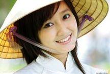 Schönes Lachen Vietnams / Vietnamesen begrüßen Sie immer mit freundlichen Lächeln und offenen Herzen. In Vietnam sind Sie immer willkommen.