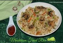 Pulao, Biriyani and Fried Rice / Different varieties of Pulao, Biriyani and Fried Rice