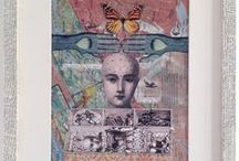 """Inspiring Collage and Mixed Media / I love teaching collage and mixed media to all levels, including complete beginners. My class is called """"MAKE A PICTURE IN A DAY"""", go to http://www.gabrielaszulman.com/decoupage/collage-and-mixed-media-workshops/ if you would like to find out more."""