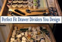 Before & After - Drawer Organization / Pins including photos of drawer messes before and after using a custom built organizer from OrganizeMyDrawer.com
