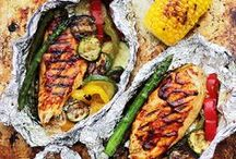 Grilling / Nothing says outdoors like grilling. Get inspiration and pointers for your next cook-out.