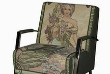 Art Nouveau Furniture - Art Nouveau Meubelen / Art Nouveau & Jugendstil furniture, inspired by architecture, art and design. Natural forms, floral themes & curved lines.