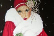 Kerstmis in Art Deco stijl - Christmas in Art Deco style / Mooie producten voor kerst in art deco en art nouveau stijl.