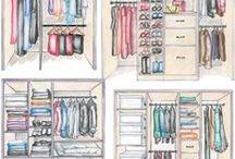szafa/ wardrobe / Organizacja i fronty Closet organization and doors