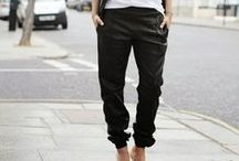 Fashion | Leather Pants / Ideas for wearing leather pants and joggers