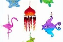 Nautical Christmas / Hand made blown glass ornaments with a tropical theme and other ideas for a nautical Christmas