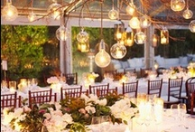 Suspended or Hanging Table Centrepieces, Decorations and Lighting  / Beautiful and original ideas for suspending or hanging decorations above tables to add elegance and atmosphere to an event. Some are hung from the ceiling, some are outdoors and hung from trees.