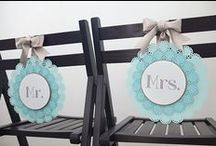 Wedding Chair Covers, Embellishments and Decoration / Wedding chair covers, embellishments and decoration ideas for the chairs used for your wedding ceremony and wedding reception... in doors and outside. From flowers, to fabric sashes and covers, ribbons, signs...