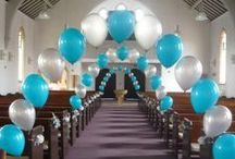 Balloon Columns and Arches / This mood board showcases impressive balloon columns and arches to give you inspiration for your wedding or special occasion. Get in touch if you'd like us to decorate your event with some impressive balloon arrangements! Check out our price list: http://www.thememoryknotcompany.co.uk/pdf/2013_Balloon_Price_List.pdf