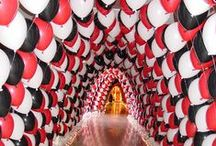 Balloon Canopies and Tunnels / This mood board showcases impressive balloon canopies and tunnel entrances to give you inspiration for your wedding or special occasion. Get in touch if you'd like us to decorate your event with some impressive balloon arrangements! Check out our price list: http://www.thememoryknotcompany.co.uk/pdf/2013_Balloon_Price_List.pdf