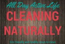 Clean Naturally: Eco friendly, safe cleaning techniques / Natural and eco friendly cleaning recipes and cleaning tips to keep your home and work area clean and healthy.