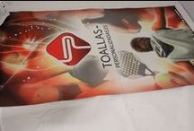 Impresión Digital total o full print en Toallas de Microfibra / Ejemplos de trabajos hechos con la técnica impresión digital total o full print sobre toallas de microfibra.