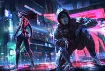 Fierce Edge Commissioned Art / The universe of Fierce Edge.