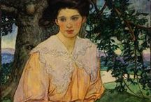 """ELIZABETH SHIPPEN GREEN / ELIZABETH SHIPPEN GREEN  """"Elizabeth Shippen Green was one of three women artist, along with Jessie Wilcox Smith and Violet Oakley, who captivated early 20th Philadelphia with their brilliant careers. nicknamed by their mentor, illustrator Howard Pyle,"""