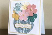 Stampin' Up! Flower Shop / Beautiful Handmade Cards created with the Stampin' Up Flower Shop stamp/punch