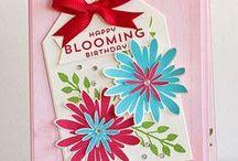 Stampin' Up! Flower Patch/Flower Fair / Creations using the Stampin' Up! Flower Patch stamp and matching Flower Fair framelits