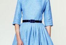 Cold blue / Inspiracja chłodnym odcieniem błękitu! Jak najbardziej FASHION <3  Sukienki >>> http://bit.ly/sukienki_baby_blue <<<