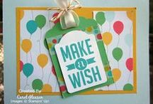 SU Birthday Cards & Products / Stampin' Up Birthday Stamp Sets, Tools and samples created with them.