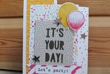 Stampin' Up! Party With Cake / Celebrating with cake and the Stampin' Up! Party with Cake stamp set