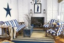 Nauticals & Navy / Beach house and nautical fabrics and inspirations