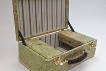 Map Boxes / Our range of map boxes using cloth maps and boxes too battered to restore.