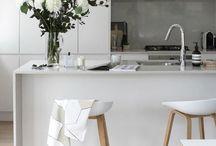 Kitchen > inspiration / White, black, wood, steel....