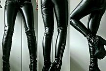 Girls' Leather Pants / Girls on sexy, tight leather pants. Don't be shy, dress to impress.