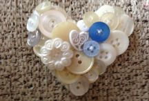 Button Hearts Dubai / Hand crafted individual pieces, gifts, keepsakes, memories. Stitched with love using delicate fabrics, wire, buttons.