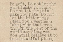 Words of wisdom for my little ones / Inspiration and wisdom to pass on to my kids