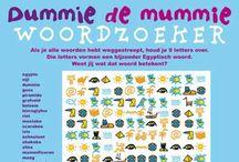 Puzzels / Op deze pagina vind je verschillende puzzels die leuk zijn voor het basisonderwijs, maar voor ook thuis. Alle puzzels sluiten aan bij de thema's prehistorie, Egypte, oude Grieken en Romeinen en de Middeleeuwen.