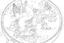 Kleurplaten prehistorie / Op deze pagina vind je allerlei leuke tekenactiviteiten om thuis te doen of op school, die te maken hebben met de Middeleeuwen. Een aantal van deze kleurplaten hebben te maken met Rijksmuseum van Oudheden.