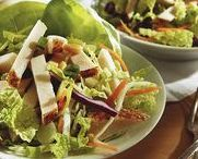 Salads / We like our salads the most when they have meat and cheese on them.