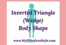Inverted Triangle (Wedge Shaped) Body Shape / Style tips and outfit inspiration for an Inverted Triangle (Wedge Shaped) Body Shape