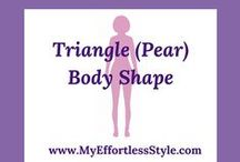 Triangle (Pear) Body Shape / Information, Style tips and outfit inspiration for a Triangle (Pear) Body Shape