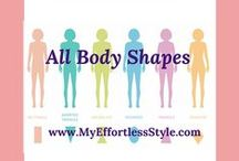 All Body Shapes / Explains the best styles for each body shape (apple, pear, hourglass, rectangle, triangle, inverted triangle)