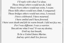Military- my dad USMC semper fi / by kim young